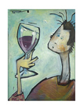 Man Swirls Wine Giclee Print by Tim Nyberg