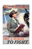 Woman Marines Giclee Print by  Vintage Apple Collection