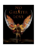 No Greater Love Fireman Giclee Print by Jason Bullard