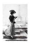 Traveler Charcoal Giclee Print by Steve Henderson
