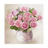 Vase with Roses Giclee Print by  Skarlett