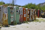 Vintage Gas Pumps Tilt Photographic Print by Toula Mavridou-Messer