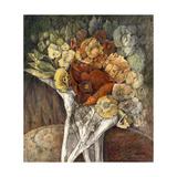 Red Flower Giclee Print by  Skarlett