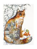 Saint Petersburg Cat Giclee Print by Oxana Zaika