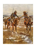 Charles Marion Russell - the Meeting Giclee Print by  Vintage Apple Collection