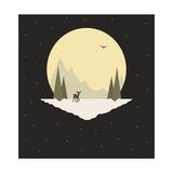 Wintertime Deer Giclee Print by Tammy Kushnir