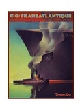 Travel Ship 0134 Giclee Print by Vintage Lavoie