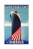 Travel Ship 0125 Giclee Print by Vintage Lavoie