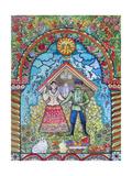 Russian Folk Giclee Print by Oxana Zaika
