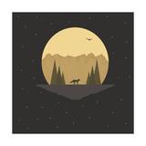 Fox under the Stars Giclee Print by Tammy Kushnir