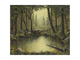 Evening at the Creek Giclee Print by Robert Wavra