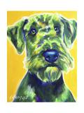 Airedale Terrier - Apple Green Reproduction procédé giclée par  Dawgart