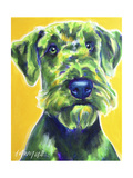 Airedale Terrier - Apple Green Giclee Print by  Dawgart