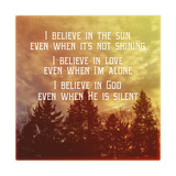 I Believe Main Giclee Print by Vintage Skies