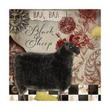 Baa Baa Black Sheep Giclee Print by  Color Bakery