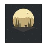 The Bear Giclee Print by Tammy Kushnir