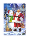 Santa Giclee Print by  Art House Design