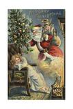 Merry Christmas Santa Lámina giclée por  Vintage Apple Collection