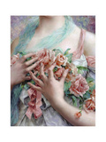 Emile Vernon - the Rose Girl Giclee Print by Vintage Lavoie