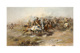 Charles Marion Russell - Custer Fight Giclee Print by  Vintage Apple Collection
