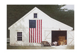 Barn with Piglet Giclee Print by Zhen-Huan Lu