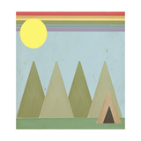 Camping in the Woods Giclee Print by Tammy Kushnir