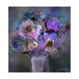 Blue Flowers Giclee Print by  Skarlett
