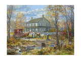 Autumn at the Schneider House Giclee Print by Peter Snyder
