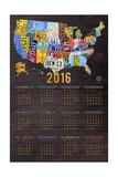 2016 Calendar Reproduction procédé giclée par  Design Turnpike