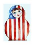 Russian Doll Giclee Print by Oxana Zaika