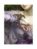 Edward John Poynter, Lesbia and her sparrow Detail 1907 Giclee Print by Vintage Lavoie