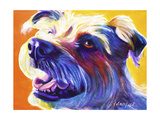 Wire Hair Terrier - Penny Giclee Print by  Dawgart