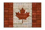 Canada License Plate Flag Giclee Print by  Design Turnpike