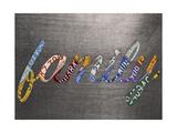 Family Sign Metal Reproduction procédé giclée par  Design Turnpike