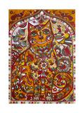 Russian Red Cat Giclee Print by Oxana Zaika