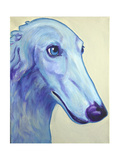 Baby Blue Borzoi Giclee Print by  Dawgart