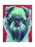 Bottle Green Brussels Griffon Giclee Print by  Dawgart