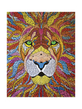 Lion Ablaze Giclee Print by  Drawpaint Illustration