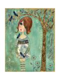 She Loves Birds Giclee Print by  Wyanne