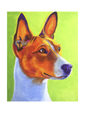 Basenji Burnt Orange Giclee Print by  Dawgart