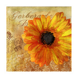 Golden Gerbera I Giclee Print by  Art Licensing Studio