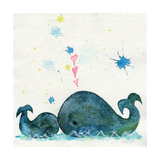 Love You Whales Giclee Print by  Wyanne