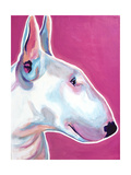 Bull Terrier - Bubble Gum Giclee Print by  Dawgart