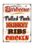 BBQ Southern Giclee Print by  Retroplanet