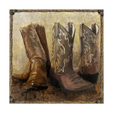 Roped in Boots Giclee Print by  Art Licensing Studio