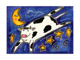 The Cow That Jumped over the Moon Giclee Print by  Wyanne