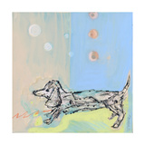 Doxie Stretch Giclee Print by  Wyanne