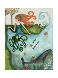 Big Eyed Girl Ocean Dreamer Giclee Print by  Wyanne