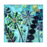 Retro Flowers Giclee Print by  Wyanne