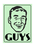 Guys Green Giclee Print by  Retroplanet